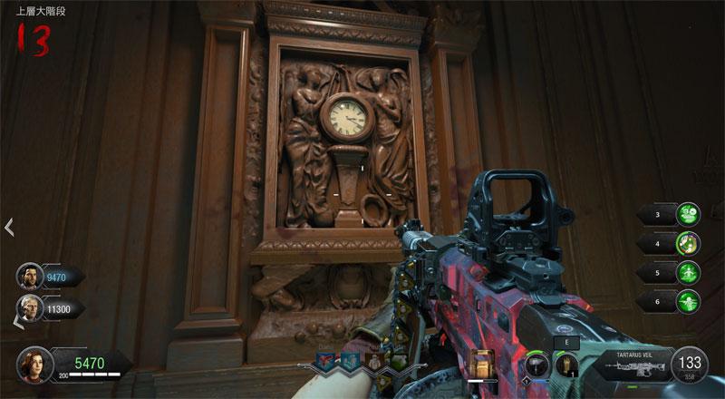 上層大階段時計