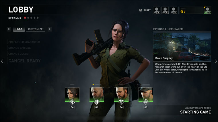 COOPキャラクター選択画面