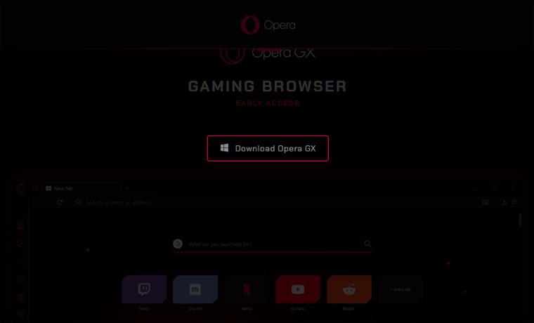 OperaGX公式サイト