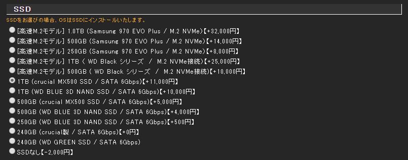 TSUKUMO - SSDカスタマイズ