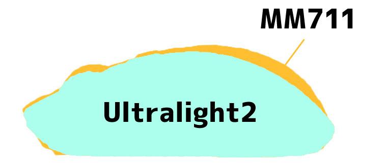 MM711 と Ultralight 2 のシェイプ比較