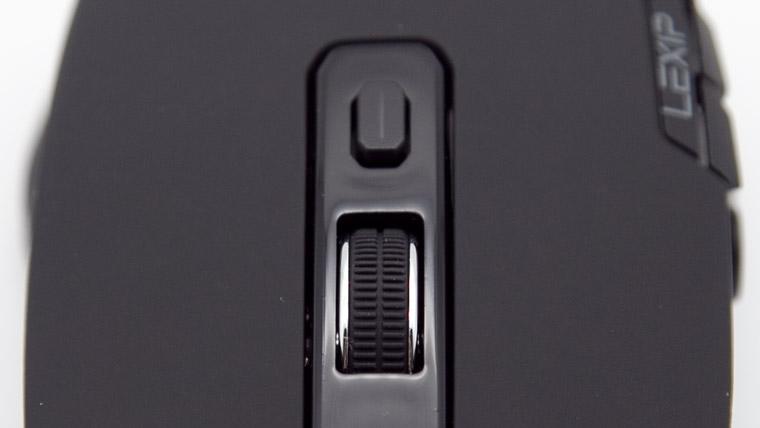 Lexip Np93 Alpha - スクロールホイールとDPIボタン