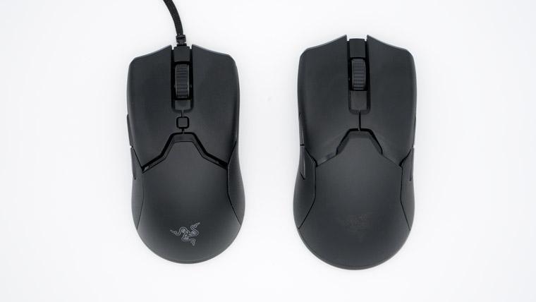 Razer Viper Mini と VPU のサイズ比較