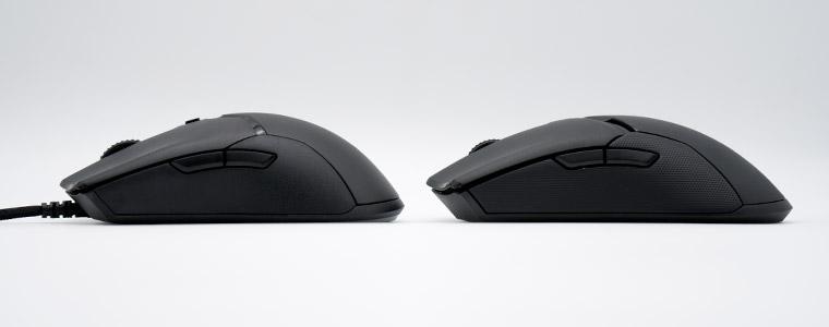 Razer Viper Mini と VPU の高さ比較