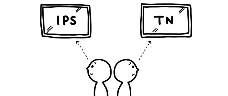 IPSとTNの見え方の違い