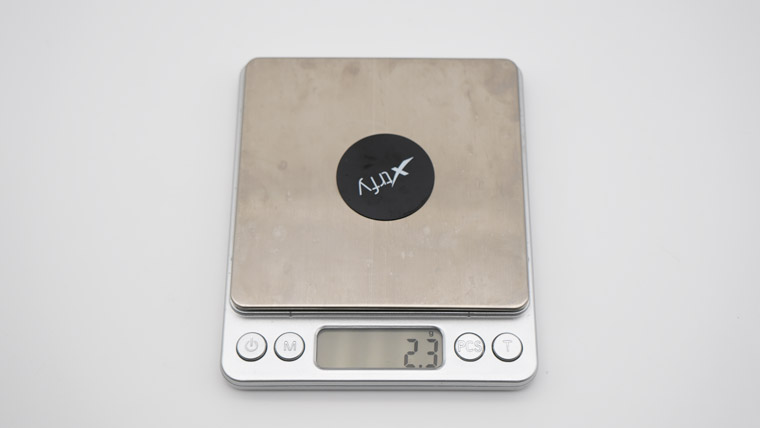 Xtrfy C1 - プレートの重量