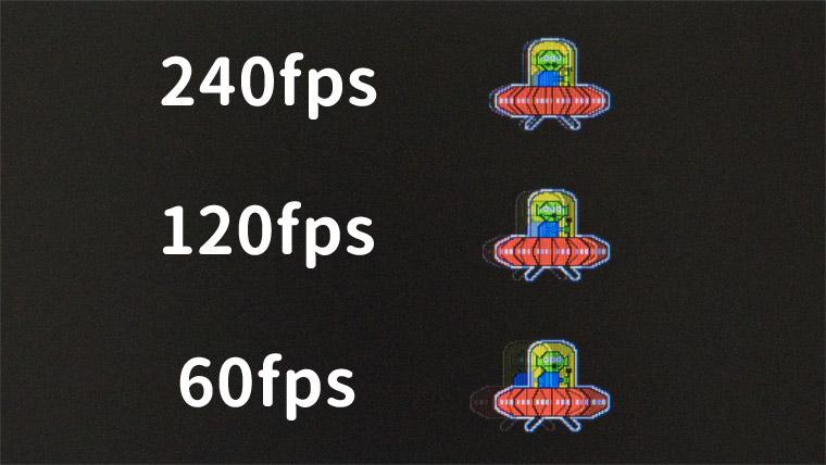 fpsごとによる残像距離の違い