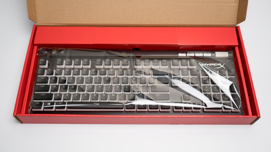 中のキーボード