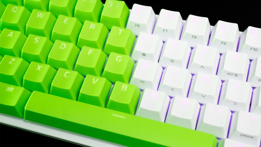 白と緑のツートンカラー