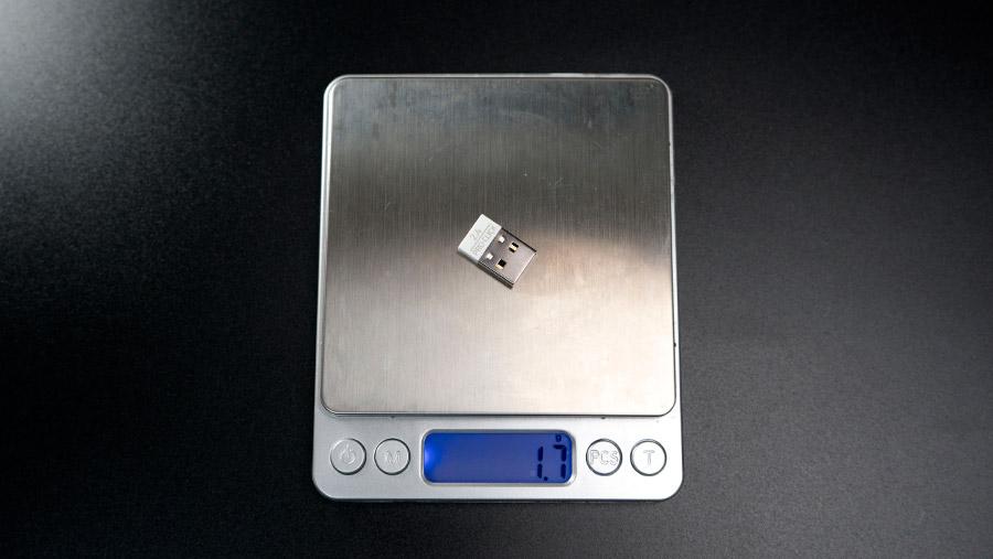 USBレシーバーの重さ
