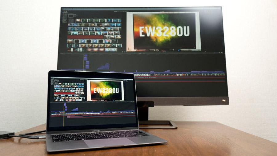 EW3280UとMacBookAir