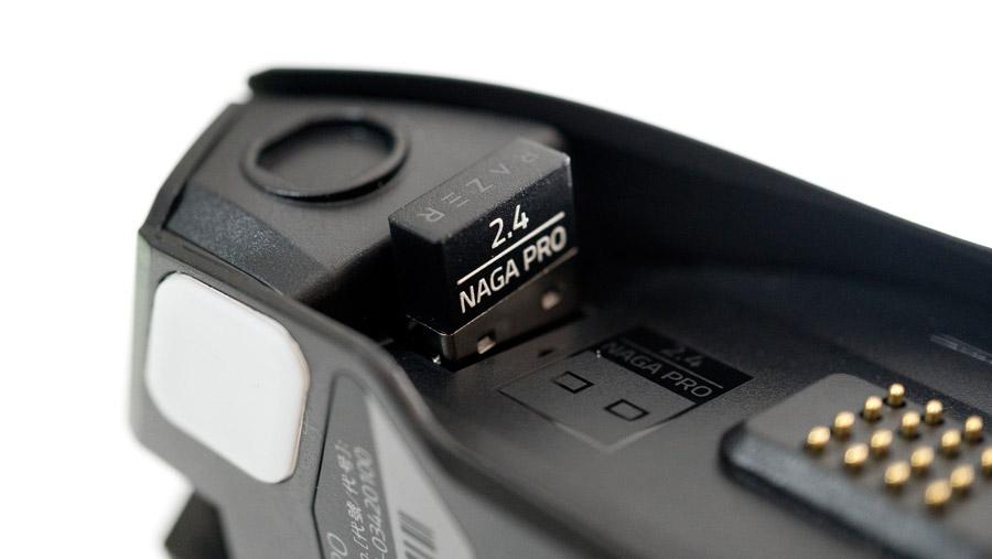 Razer Naga Pro USBドングルの場所