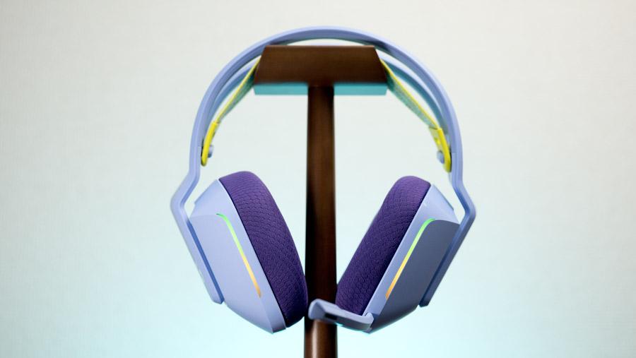 G733 on headphone stand