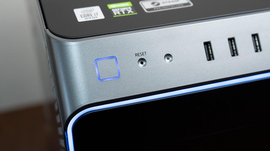 光る電源ボタン