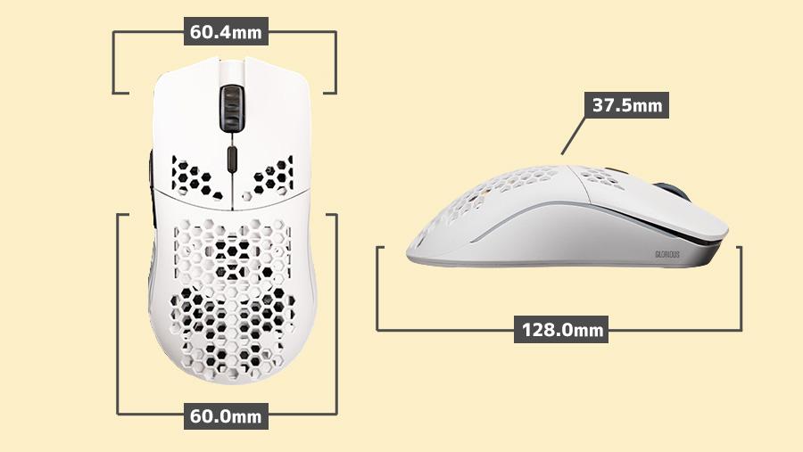 Model O Wireless サイズ