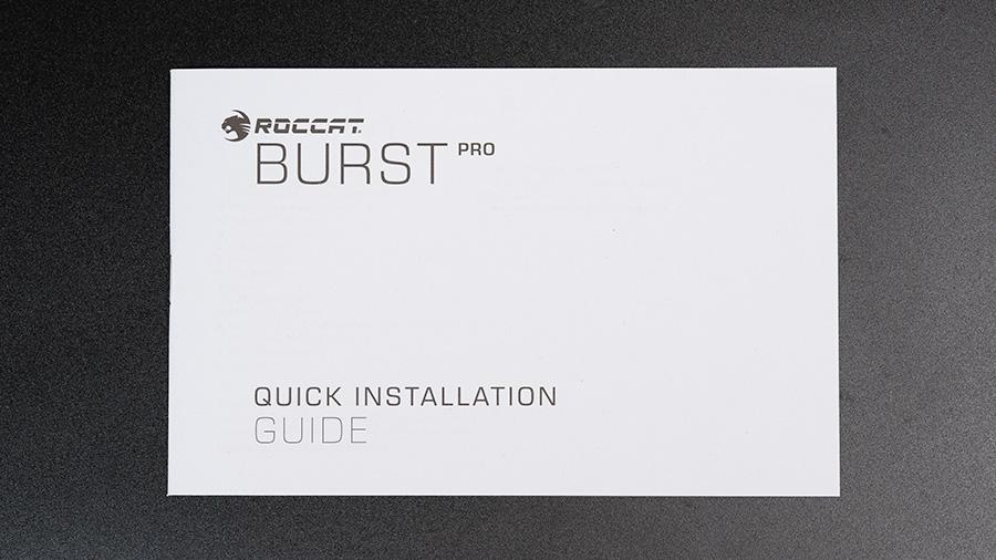 ROCCAT Burst pro - 説明書