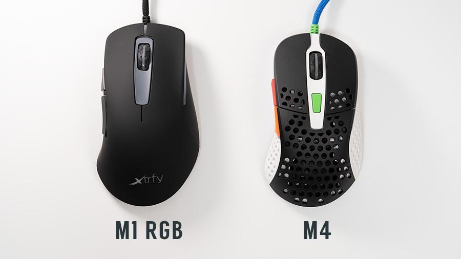 M4と比較 上から