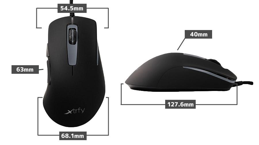 Xtrfy M1 RGB サイズ