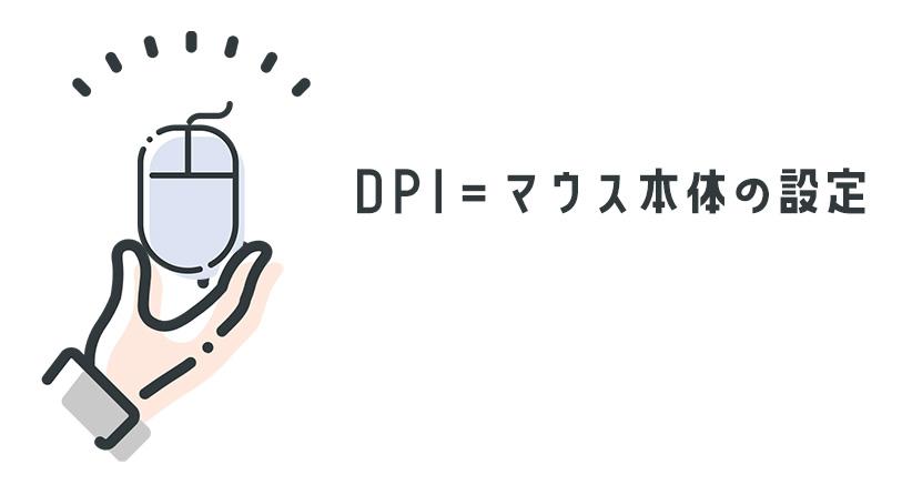 DPI=マウス本体の設定