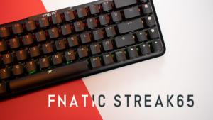 Fnatic STREAK65 レビュー。ロープロファイル銀軸の65%キーボード